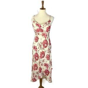 Anne Taylor Silk Maxi Dress Womens Size 4 Floral P
